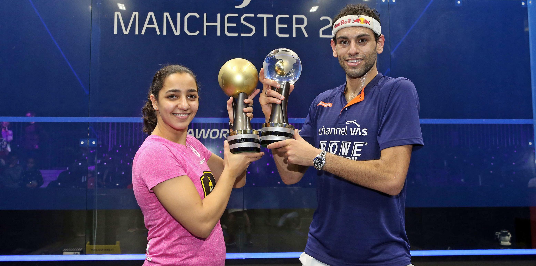 PSA World Champions: Raneem El Welily and Mohamed El Shorbagy